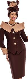Terramina 7408-Chocolate Church Suit