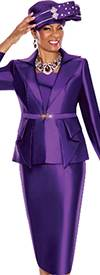 Terramina 7477-Purple Church Suit