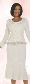 Womens Knit Suits Todd and Olivia TD94042 Off White
