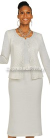 Womens Knit Suits Todd and Olivia TD94373 - White