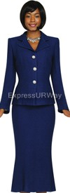 Womens Knit Suits Todd and Olivia TD94402 - Navy