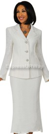 Clearance Womens Knit Suits Todd and Olivia TD94402 - White