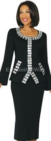 Womens Knit Suits Todd and Olivia TD94412 - Black