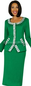 Womens Knit Suits Todd and Olivia TD94412 - Emerald