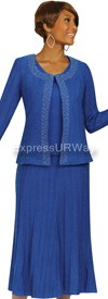 Womens Knit Suits Todd and Olivia TD94443 - Royal
