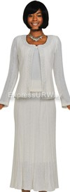 Womens Knit Suits Todd and Olivia TD94443 - White