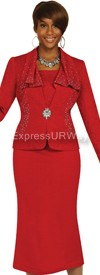 Womens Knit Suits Todd and Olivia TDC94343 - Red