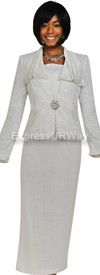 Womens Knit Suits Todd and Olivia TDC94343 - White