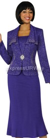 Womens Knit Suits Todd and Olivia TDC94343 - Purple