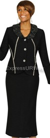 Womens Knit Suits Todd and Olivia TDC94352 - Black