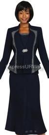 Womens Knit Suits Todd and Olivia TDC94363 - Navy