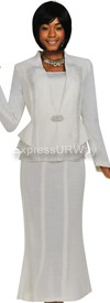 Womens Knit Suits Todd and Olivia TDC94363 - White