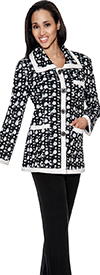 Womens Knit Trouser Suit Todd and Olivia TD94552