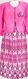 ALL-716SG33SG12-Fuchsia - Womens Two Piece Jacket Dress Suit