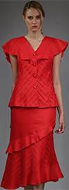 JSO-1707-Red Womens Suit