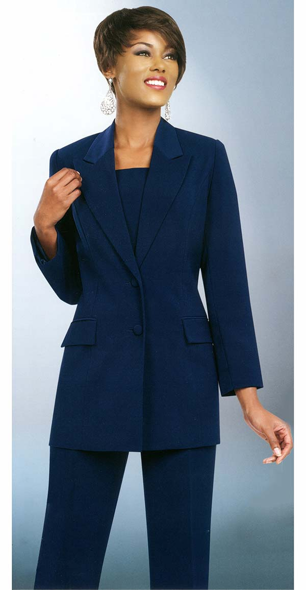 Ben Marc Executive 10499-Navy - Business Trouser Suit Uniform For Women