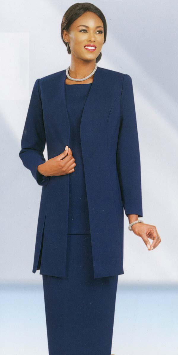 Ben Marc 2296-Navy - Usher Style For Church With Vented Jacket
