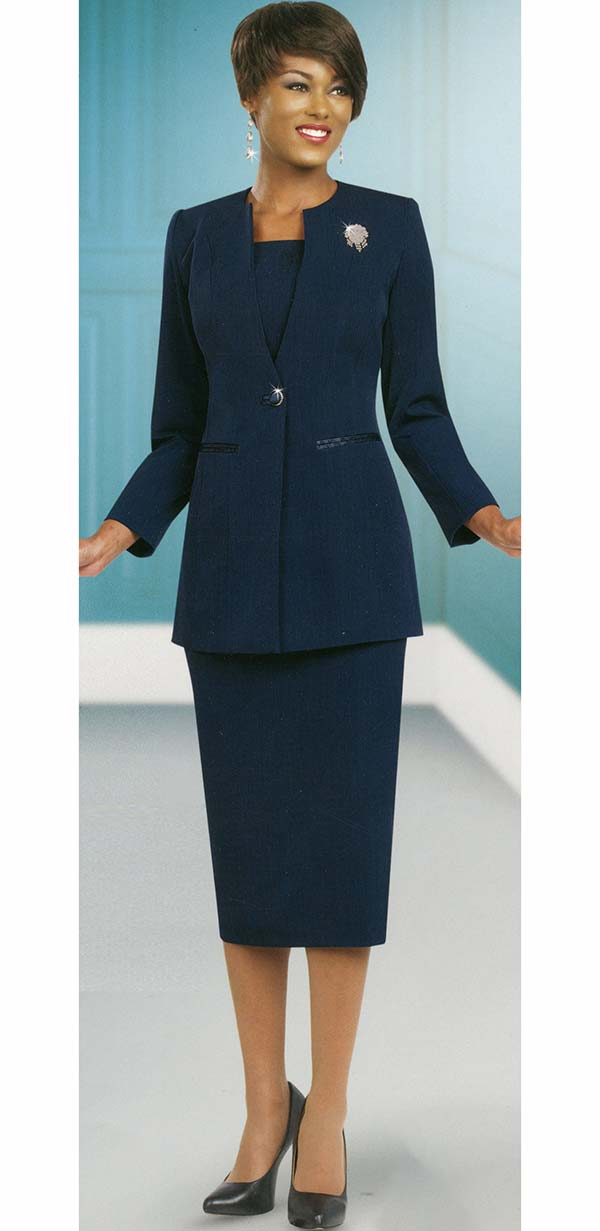Ben Marc 78099-Navy - Modern Usher Suit For Women