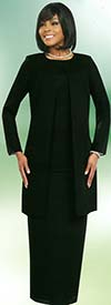Misty Lane 13057-Black - Three Piece Choir Outfit For Women