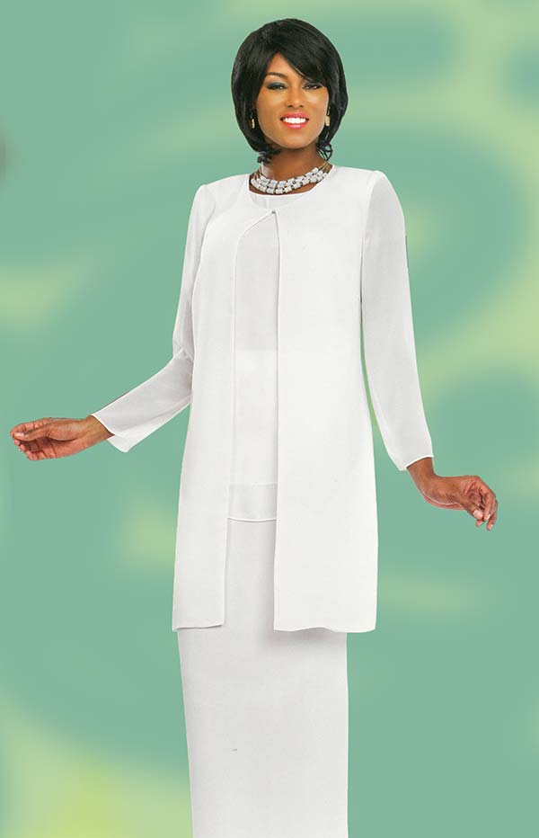 Misty Lane 13057-White - Three Piece Choir Outfit For Women