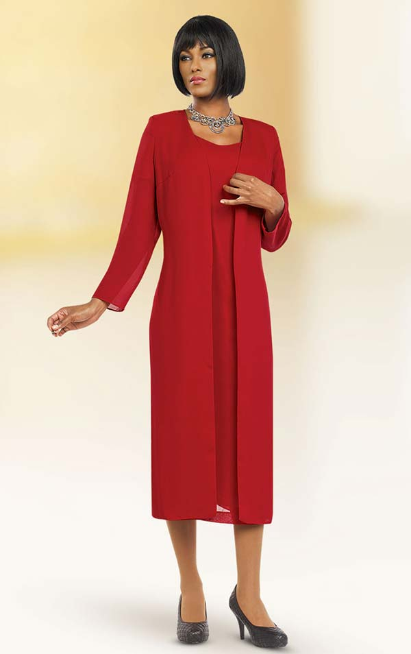 Misty Lane 13059-Red - Two Piece Choir Dress With Jacket