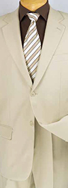 Vinci 2PP Single Breasted Two-Button Church Suit For Men