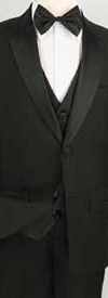 Vinci 5TB-1 Boys Tuxedo With Vest Shirt & Bow Tie