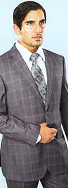 Vittorio St. Angelo A62PD Mens Two-Piece Windowpane Plaid Church Suit