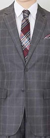 Vittorio St. Angelo A62PD Two Piece Mens Suit With Window Pane Pattern
