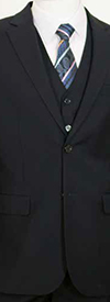 Vittorio St. Angelo C602FV Three-Piece Two Button Church Suit For Men