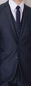 Vittorio St. Angelo T62LU Mens Three-Piece Two Button Suit