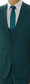Vittorio St. Angelo US631V-Green - Mens Ultra Slim Fit Stretch Suit