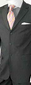Vittorio St. Angelo A63ETS-Grey Striped Two Piece Mens Church Suit