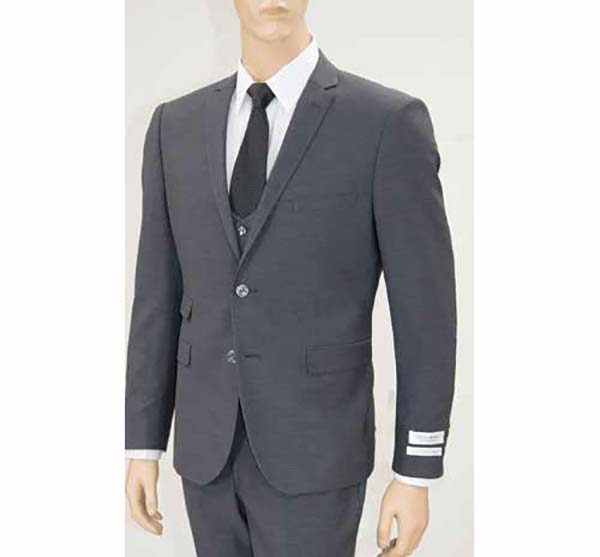 Vittorio St. Angelo US631V-Charcoal - Mens Ultra Slim Fit Stretch Suit