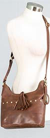 Born BIN742-Brown - Womens Crossbody Handbag With Fringe Detail