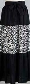 KaraChic 7514-254A - Leopard Print Peasant Style Skirt