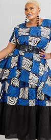 KaraChic 7514-502 - African Print Peasant Style Skirt