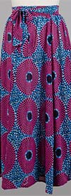 KaraChic 7001P- Womens Sheer Maxi Skirt With Sash In African Style Print