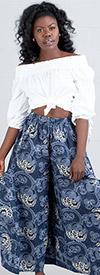 KaraChic 240 - Womens Wide Leg Palazzo Pant In African Print