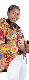 KaraChic - 9036-491 - African Print Hooded High-Low Top