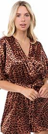 Vision Apparel JP072 Womens Romper In Animal Print Design