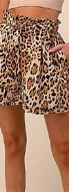 Vision Apparel P0771 Womens Animal Print Shorts With Pockets