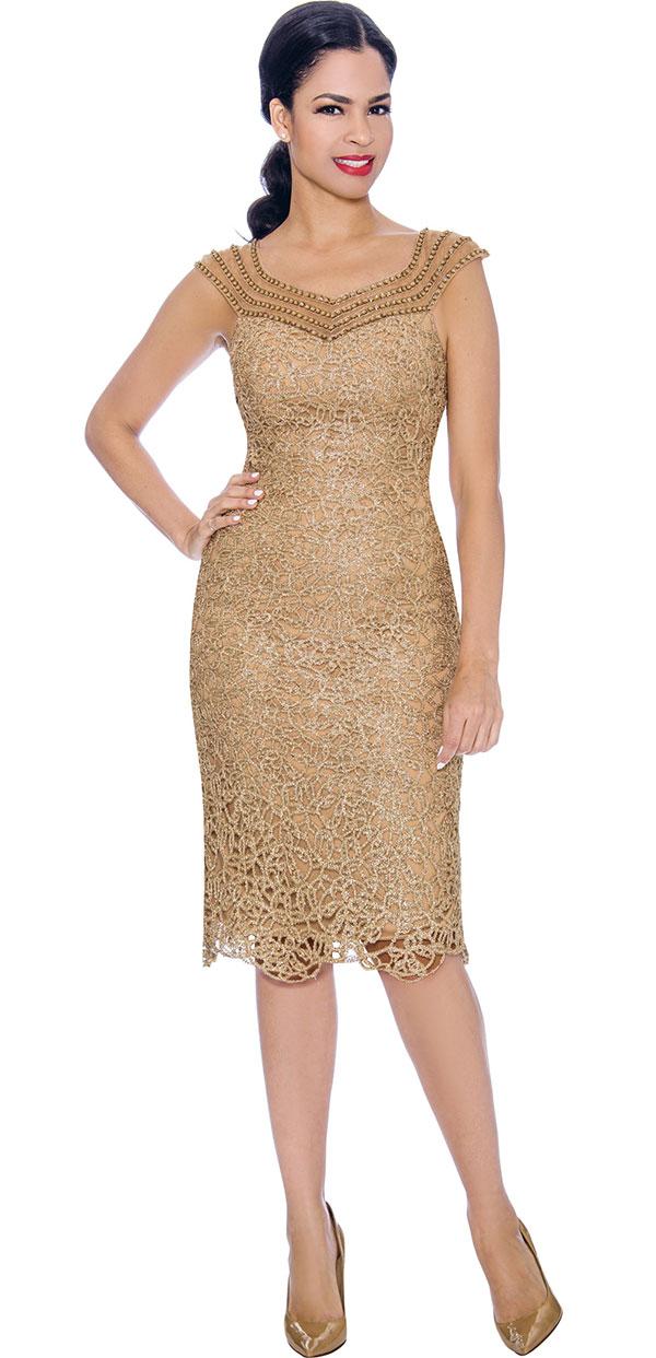 Annabelle 8699 - Sleeveless Lace Dress With Sweatheart Neckline