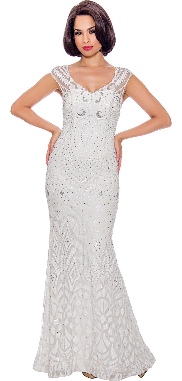 Annabelle 8710 - Sleeveless Floor Length Dress With Embellished Design