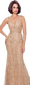 Annabelle 8733 - Vee Neckline Sleeveless Dress With Waistline Seam