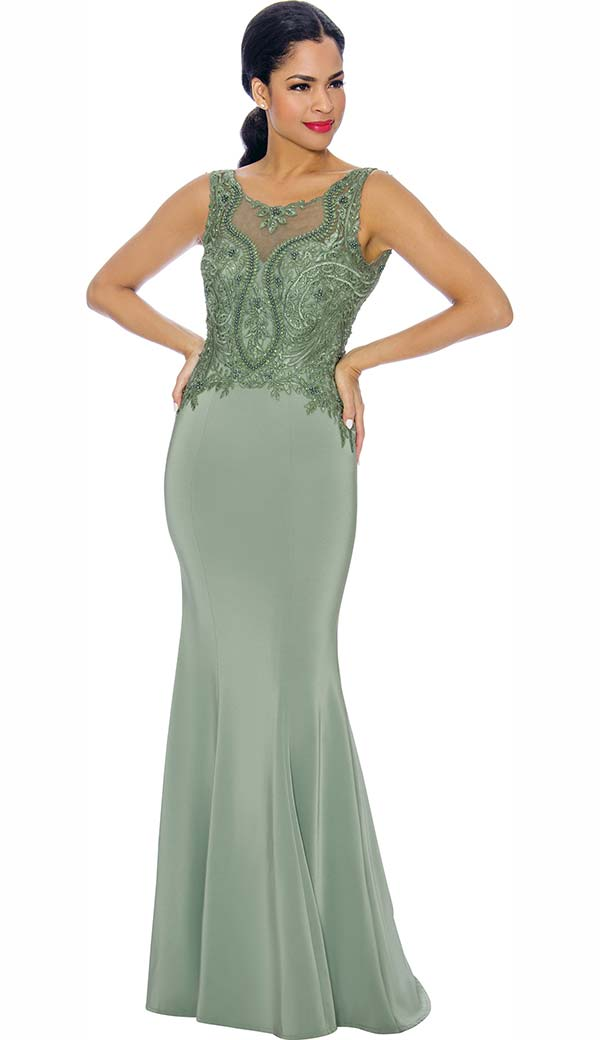 Annabelle 8666 Sleeveless Fit & Flare Floor Length Dress With Intricate Design Bodice