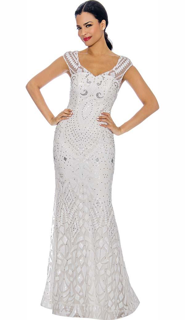 Annabelle 8710 - Sleeveless Floor Length Dress With Embellished Design