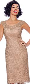 Annabelle 8699 - Sleeveless Lace Dress With Sweetheart Neckline