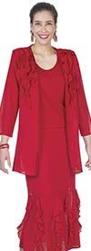 Aussie Austine Christie 673 Double Georgette Suit With Ruffle Adorned Skirt & Jacket