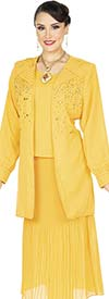 Aussie Austine Christie 679 Double Georgette Suit With Pleated Skirt